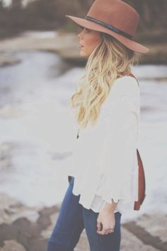 Boho Style...love that hat