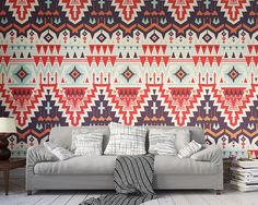 Mural Brewster Home Fashions Tribal Tribute Wall Mural Wall Art, Wallpaper, Wall Murals, Mural Wallpaper, Wallpaper Living Room, Wall, Living Room Wallpaper Murals, Brewster Home Fashions, Statement Wall