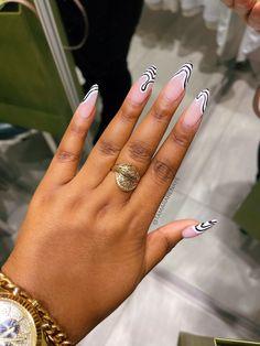 Zebra Nails, Leopard Nails, Glam Nails, Funky Nails, Cute Designs, Nail Designs, Black White Nails, Stylish Nails, Mani Pedi