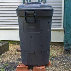 Trash Can Compost Bin - an easy way to make Gardner's Gold - P. Allen Smith Garden Home