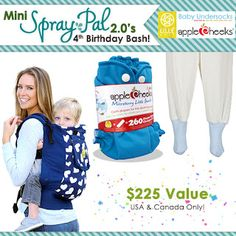 Spray Pal Blog: A Lillebaby carrier, AppleCheeks cloth diapers and...