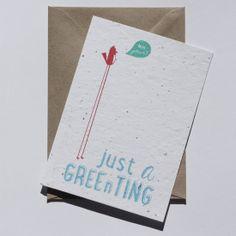 Just a gree(n)ting - Plantable Postcard by niko niko