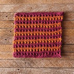 "Knit Picks: Tropical Vacation Dishcloth / free 8"" square pattern by Chelsea Berkompas."