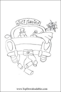 Just Married Coloring PageProject For