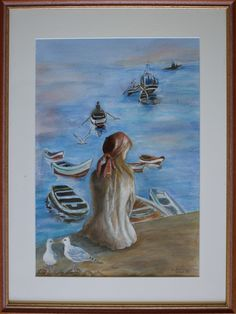 artist Georgette Archane-Gebel Year 1998 Watercolour painting on paper 38 x 28 cm Comes with frame cm) Art, Painting