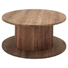 Spool Acacia Coffee Table mesa ratona madera para cables enrollar reciclar