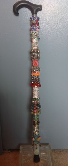 Decorative Beaded Cane and Walking Stick My2 by CitizenCanes, $130.00