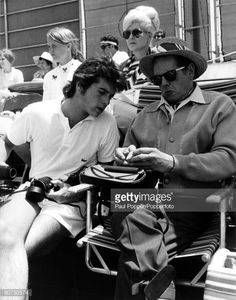 Father and son, Desi Arnaz and Desi Arnaz Jr. together at a celebrity tennis match played at La Costa Country Club in aid of the American Cancer Society Charity, July 1970 I Love Lucy Show, Just Love, Lucille Ball Desi Arnaz, Lucy And Ricky, Tennis Match, Father And Son, Senior Photos, Vinyl Records, Pop Culture