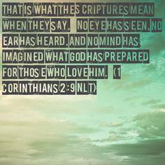 Verse of the day!!! Bible Verse: 1 Corinthians 2:9