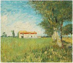 Vincent van Gogh - Farmhouse in a Wheat Field 1888