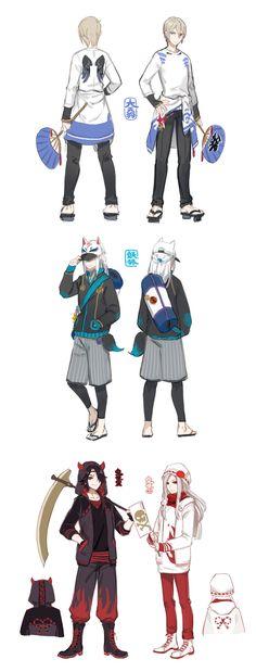 式神日常印象服 by 完形崩溃 on LOFTER
