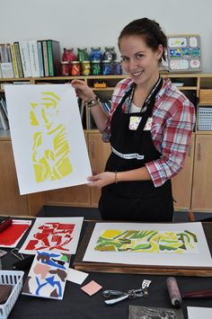 Could do with Foam on Paper! printing with print blocks with press - Google Search