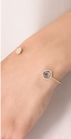 Tai Asymmetrical Pave Stone Cuff on ShopStyle