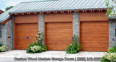 Custom Made Modern Garage Doors  in Horizontal Slat Design by Dynamic Garage Door | Automatic Rollup Designed for Today's Modern Architectural Homes by Dynamic Garage Door Repair | Custom Garage Door Designs from Europe