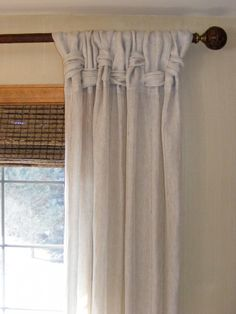 Country Cottage window treatment made with teastained