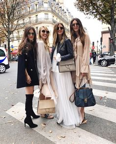After the @chloe show this morning w/ my girl gang see the show on my Snapchat or Instastory #PFW #ChloeGirls