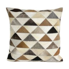 "Tribeca Pillow // Multi-Color (1'6"" x 1'6"") by Bashian Cowhide Rugs & Pillows at Touchofmodern.com, $59 !!"