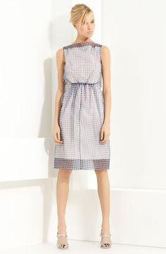 MARC JACOBS Gingham Print Organza Dress