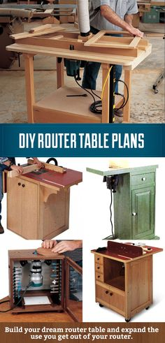 DIY Router Table Plans, save money and build the router table of your dreams.