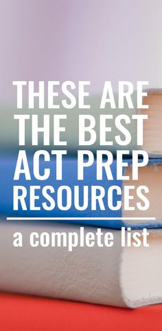 What a great list of ACT test prep resources! Wish I had known about all of these sooner! Sat Test Prep, Sat Prep, Test Preparation, Best Act Prep Book, College Test, Act Math, Act Testing, Homeschool High School, Homeschooling