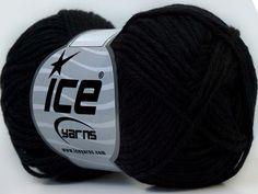 Ice yarn knitting yarn Baby Cotton Black
