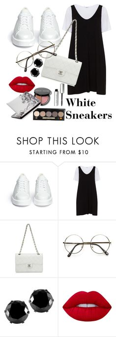 """""""White sneakers"""" by amourcheri ❤ liked on Polyvore featuring Robert Clergerie, Zizzi, Chanel, West Coast Jewelry, Lime Crime and Bobbi Brown Cosmetics"""
