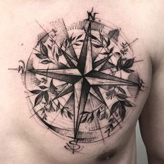 Sketch style compass by BK