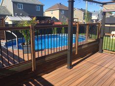 Raised patio deck outdoor fireplaces Ideas for 2019 Patio Roof, Pergola Patio, Pergola Plans, Backyard Patio, Pergola Ideas, Wooden Pergola, Pergola Kits, Awning Patio, Screened Patio