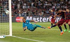 Pedro scores against Sevilla