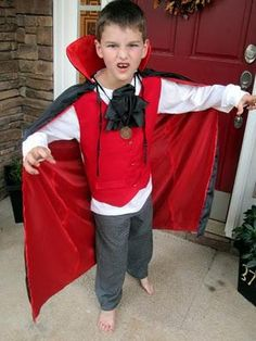 Easy homemade vampire costume for a little boy themoonlitnest diy boys halloween costumes diy homemade faux vest vampire costume solutioingenieria Choice Image