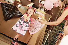 Cowgirl Birthday Party. Great ideas!!