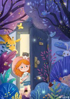 Children's Book Illustration, Character Illustration, Illustrations, Cute Cartoon Wallpapers, Art Plastique, Disney Wallpaper, Anime Art Girl, Cute Drawings, Cute Art