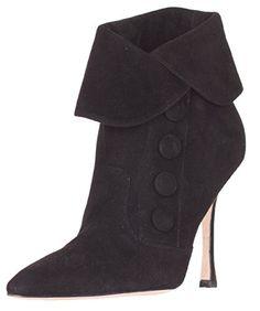 3c4a944bc3a  sale Manolo Blahnik Women s Black Suede Ankle Boots Shoes 7.5 EU 37.5  Suede Ankle Boots