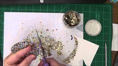 Fran-tage mica flakes tutorial  #scrapbooking, #crafts, #frantage