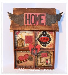 Altered art & art journaling : Home is where the heart is… Welcome Home, Where The Heart Is, Art Journaling, Altered Art, Art Art, Mixed Media, Sweet Home, Art Diary, House Beautiful