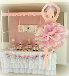 Ballerina Decorations For A Ballerina Party Ballet within Ballerina Birthday Party Ideas - Party Supplies Ideas Birthday Party Images, Ballerina Birthday Parties, Birthday Party Decorations, Girl Birthday, Birthday Ideas, Ballerina Party Decorations, Diy Party, Tutu Party, Party Ideas