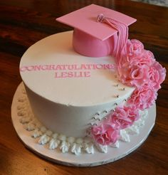 Made For A Homeschool Graduation Party. Awesome young woman who graduated, and loves pink!
