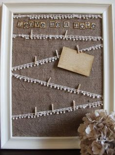 """I could see making this for a wedding gift only I would change it to say """"leave me a LOVE note"""""""