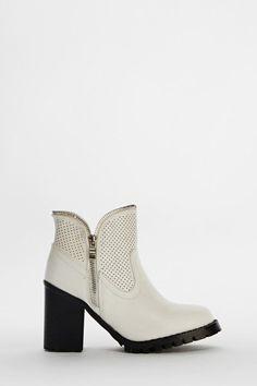 Zip Trim Ankle Boots - 3 Colours - Just £5  #E5P #Summer #Heels