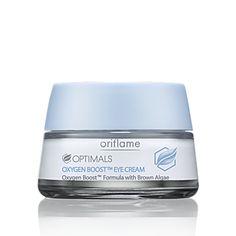 Contorno de Ojos Oxygen Boost™ Optimals. Una ráfaga de oxígeno puro para la delicada zona del contorno de ojos. Crema de textura ligera que ayuda a detoxificar, desinflamar y eliminar al instante cualquier signo de fatiga. El Complejo AquaBoost con fórmula enriquecida proporciona 24 horas de hidratación y ayuda a prevenir la aparición de arrugas. 15  ml. $7000