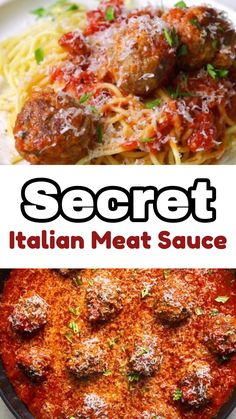 This Secret Italian Meat Sauce  is the Best Spaghetti Sauce Recipe I've ever made and definitely worth the wait!
