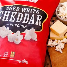 Made with aged white cheddar and blue cheeses, this is simply the cheesiest snack around! #Cheesy #Cheddar #BlueCheese #Snack #Popcorn #CheesePopcorn