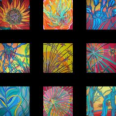 Vibrant Silk - Original Paintings on Silk by Gabrielle Caul