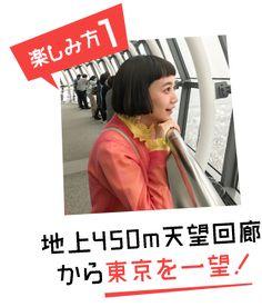 楽しみ方1 地上450m天望回廊から東京を一望!