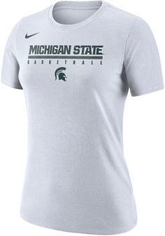 5f0d146acc22 Nike Michigan State Spartans Womens White Basketball Practice Legend T-Shirt