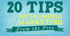 20 Social Media Marketing Tips From the Pros. Are you wondering what 2015 might look like for social media marketing? If the changes in 2014 are an indicator, there will be a lot more changes in 2015.