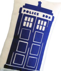 Tardis Doctor Who Inspired Pillow by FourEyesHandmade on Etsy, $32.00