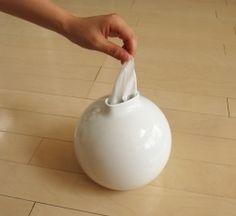 Paper Pot Tissue/Toilet Paper Dispenser by Ai Collection