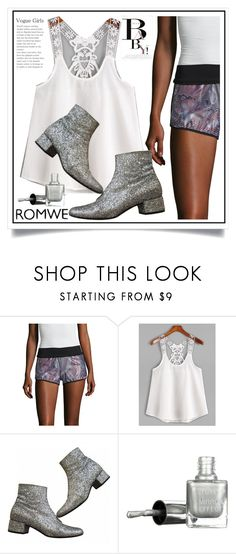 """Romwe"" by ewa-naukowicz-wojcik ❤ liked on Polyvore featuring Koral Activewear, Yves Saint Laurent and November"