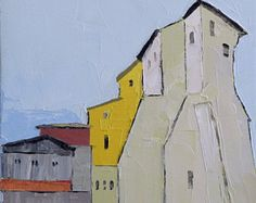Angles - 8x10 Oil Painting On Canvas, Original Landscape Painting, Small